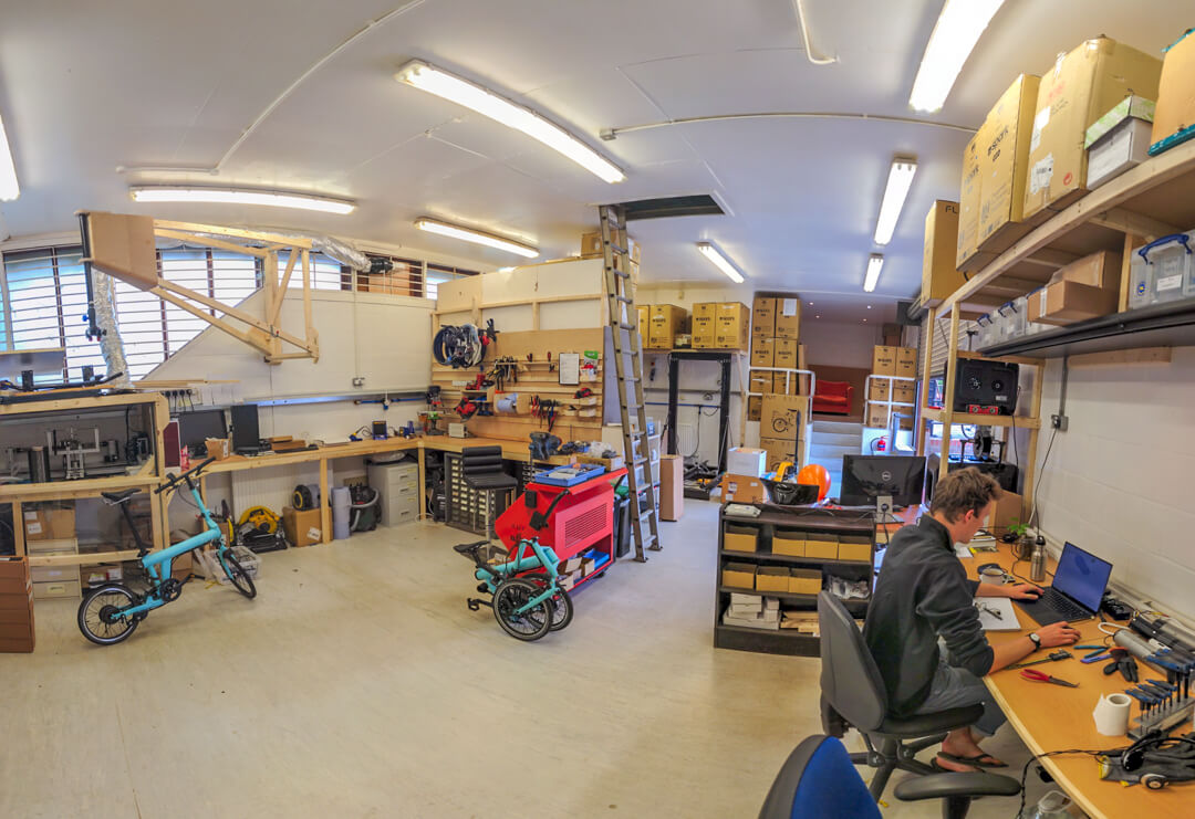 Wide Angle of the new workshop