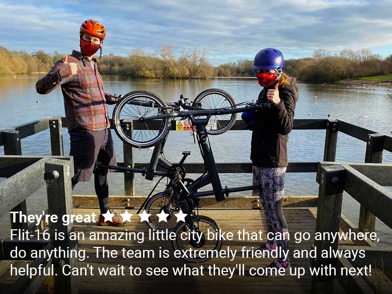 Happy riders + Trustpilot review